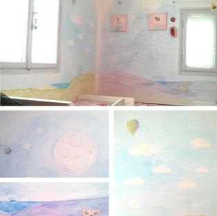 ציור קיר בחדר ילדות