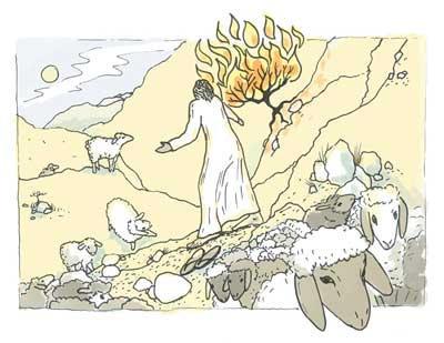 משה והסנה הבוער