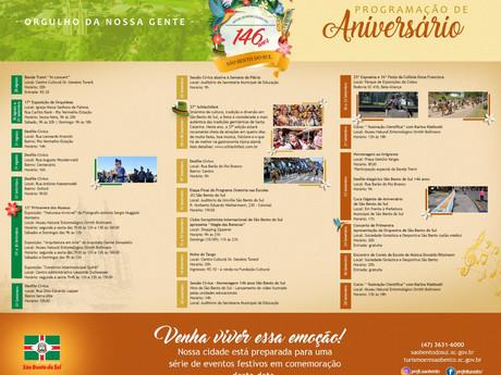 Programação de aniversário de São Bento do Sul