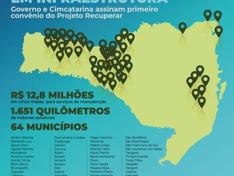 Serra Dona Francisca fora do Projeto Recuperar