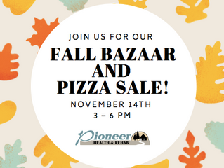 Join Us for our Fall Bazaar and Pizza Sale