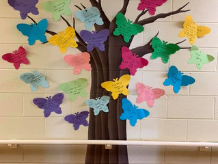 Residents and Staff Create Butterfly Tree