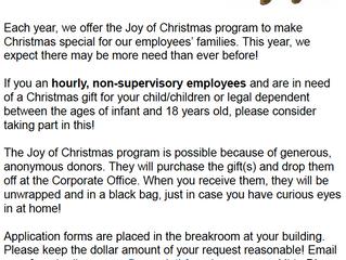 Joy of Christmas Program