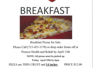 Breakfast Pizzas for Sale