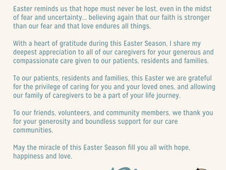 Easter Message From Our CEO, Raymond Weiss