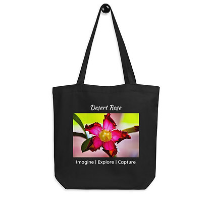 Desert Rose Eco Tote Bag (black)