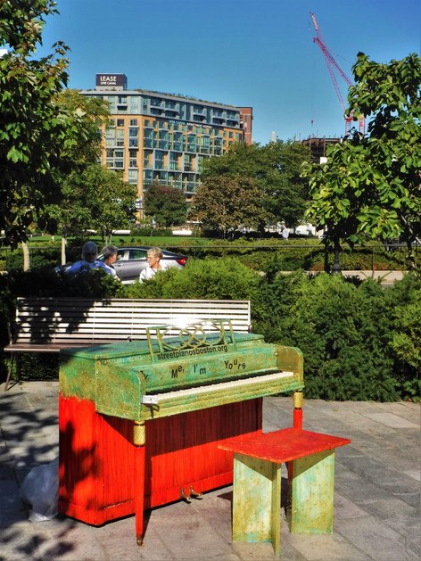 Piano at the Rose F. Kennedy Greenway