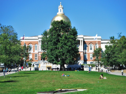 Massachusetts State House and the Common