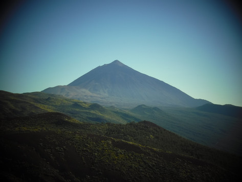 Welcome to Tenerife, one of the seven Canary Islands.  Mount Teide is home to the highest peak in Spain at 3,718 m. (June)