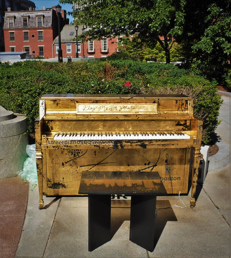 Piano by the Massachusetts State House
