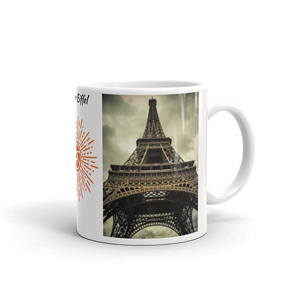 Vintage Tour Eiffel White Glossy Mug