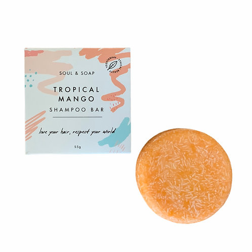 Soul and Soap Tropical Mango Shampoo Bar