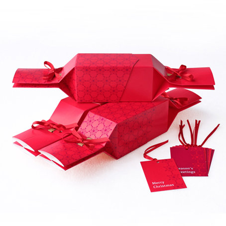Christmas Red Reusable Christmas Crackers