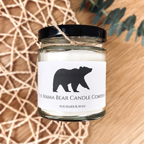 Rhubarb and Rose Candle