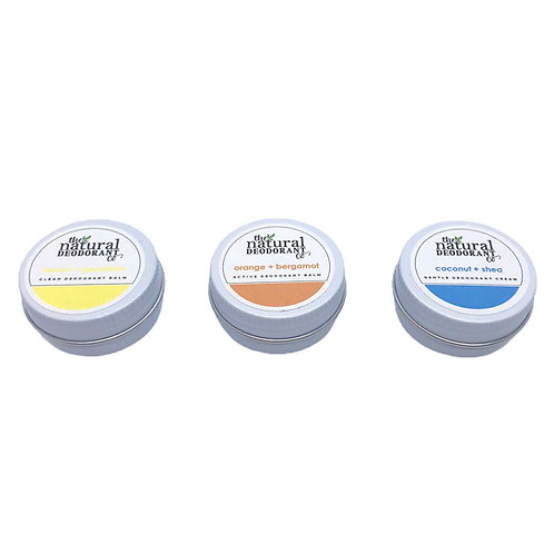 Natural Deodorant Co Sample Tins 10g