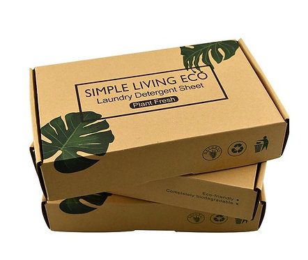Plastic Free Laundry Detergent Sheets Full Box Simple Living Eco
