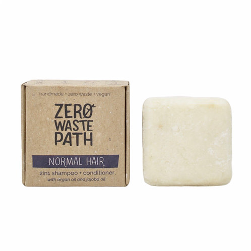 Zero Waste Path 2in1 Shampoo and Conditioner Bar For Normal Hair