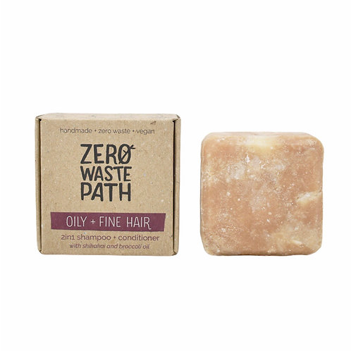 Zero Waste Path 2in1 Shampoo and Conditioner Bar For Oily & Fine Hair