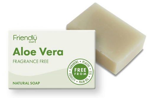 Friendly Aloe Vera Fragrance Free Soap Bar