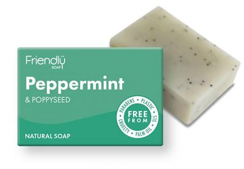 Friendly Peppermint & Poppy Seed Soap Bar