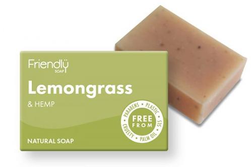 Friendly Lemongrass & Hemp Soap Bar