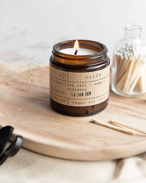 Tiger & Co Drift Soy Wax Candle Jar