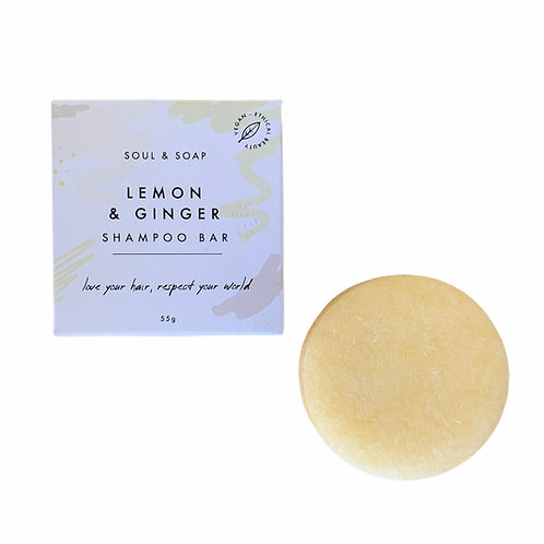 Soul and Soap Lemon & Ginger Shampoo Bar