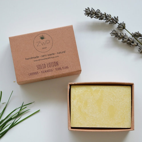 Zero Waste Path Floral Solid Lotion Bar