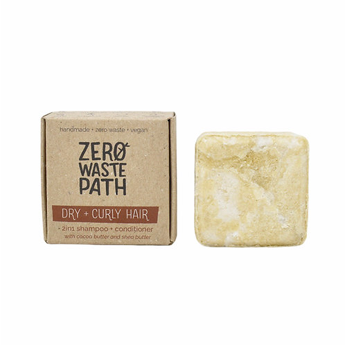 Zero Waste Path 2in1 Shampoo and Conditioner Bar For Dry & Curly Hair