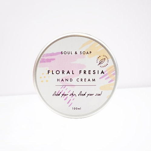 Soul & Soap Floral Fresia Hand Cream