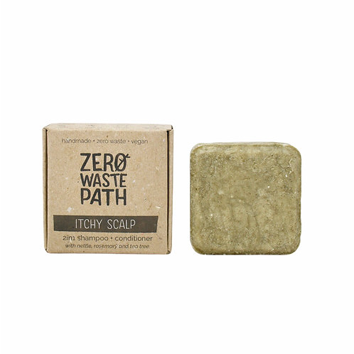 Zero Waste Path 2in1 Shampoo and Conditioner Bar For Itchy Scalp