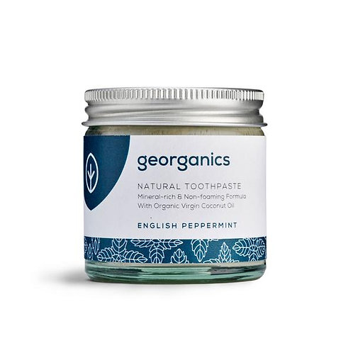 Georganics English Peppermint Natural Toothpaste in a jar