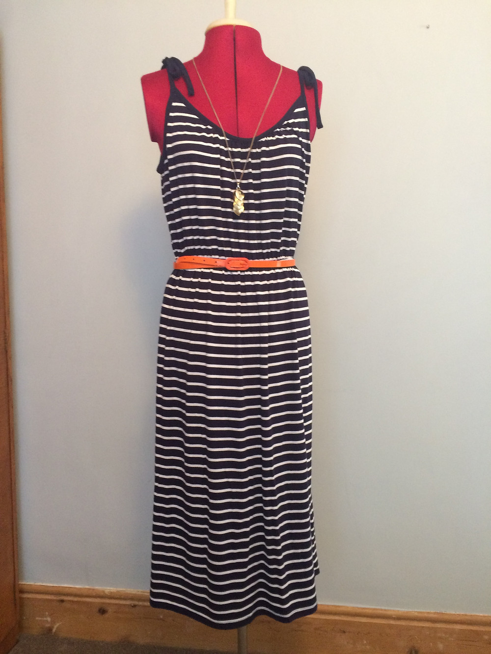 summer dress, breton stripe, outfit, personal styling