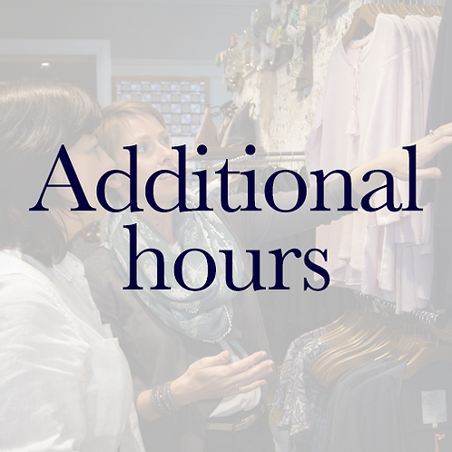 Additional Hours -Personal Shopping