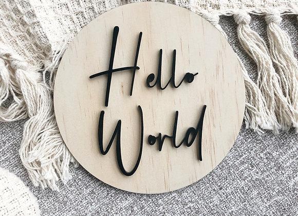 Hello world disc (luxe)