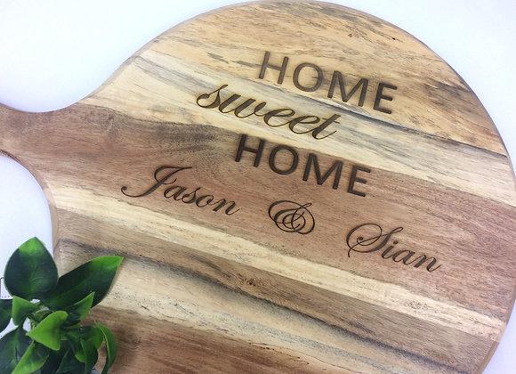 Home sweet home chopping board
