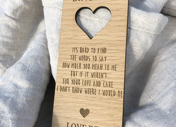 Personalised Mother's Day bookmark