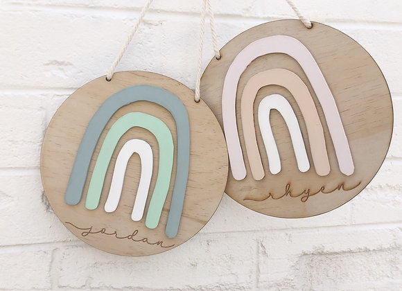 Rainbow name plaque