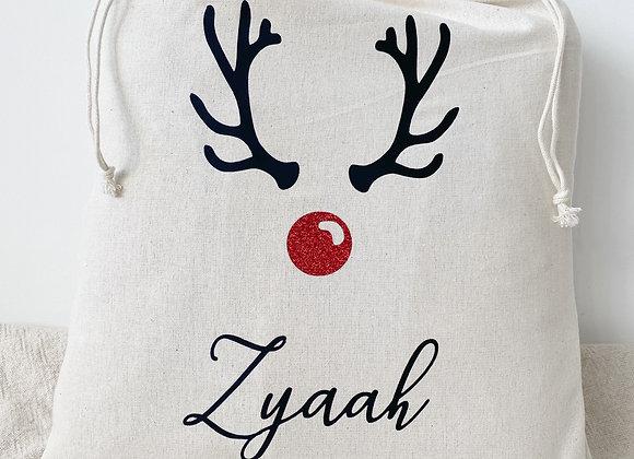 Rudolph design Santa sack