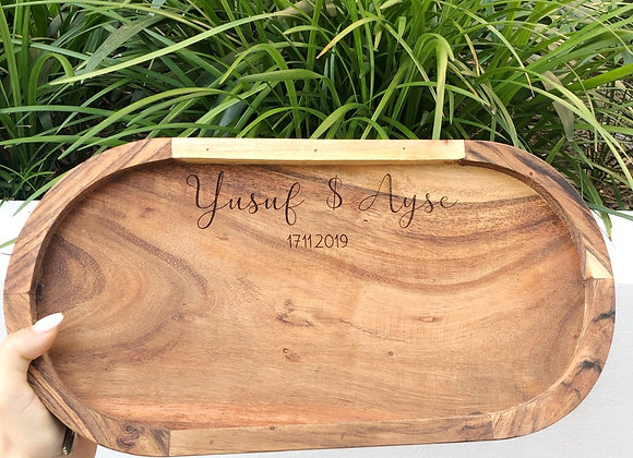 Personalised wooden dish