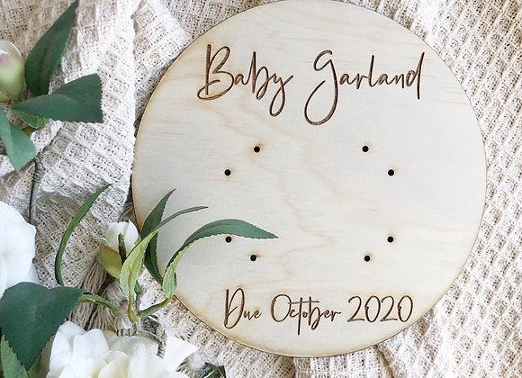 Ultra sound birth announcement plaque