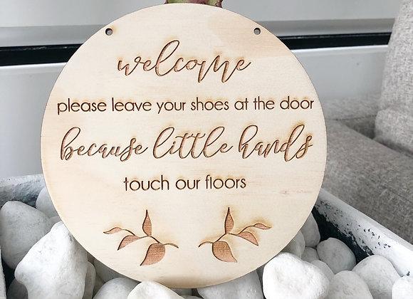 Door shoe sign