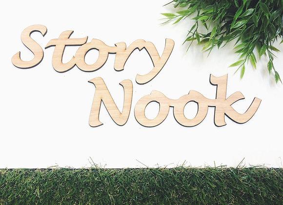 Story Nook plaque