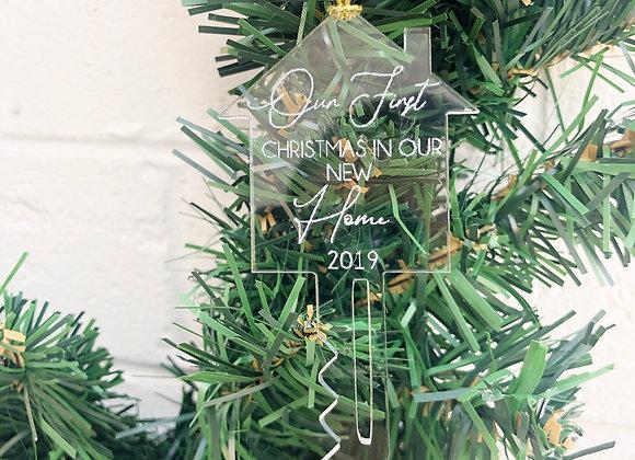 House key Christmas ornament
