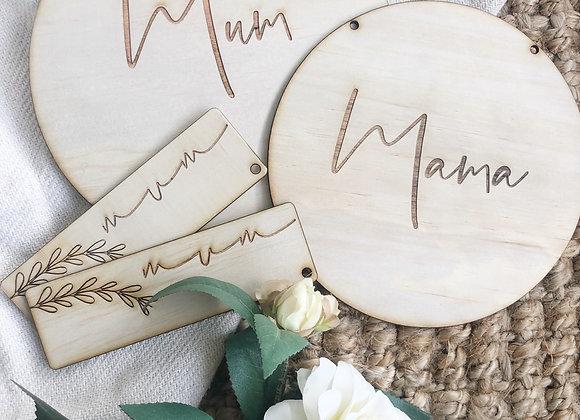 'Mama' or 'Mum' plaque