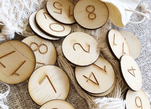 Wooden counters (1-20)