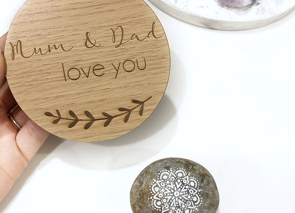 Mum & dad love you plaque