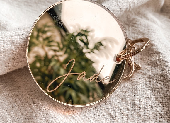 Luxe personalised keychain