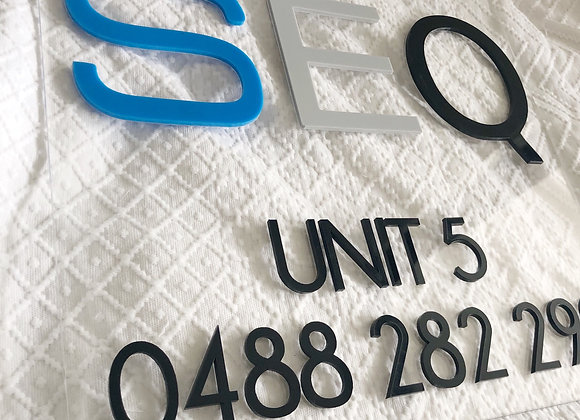 Custom luxe business signage (enquires only)