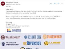 YSI 소식 - 노진오 학생 Maple Ridge 교육청 장학금 수상